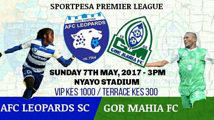 AFC Leopards v Gor Mahia ticketing info
