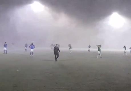 VIDEO: Spiel bei irrem Schnee-Sturm