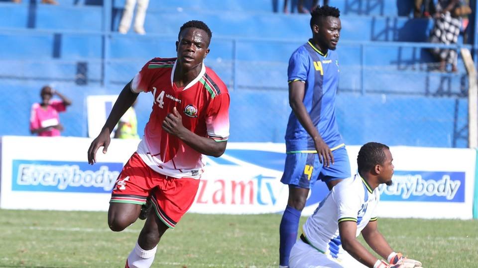 Vincent Oburu Harambee Stars and AFC Leopards.