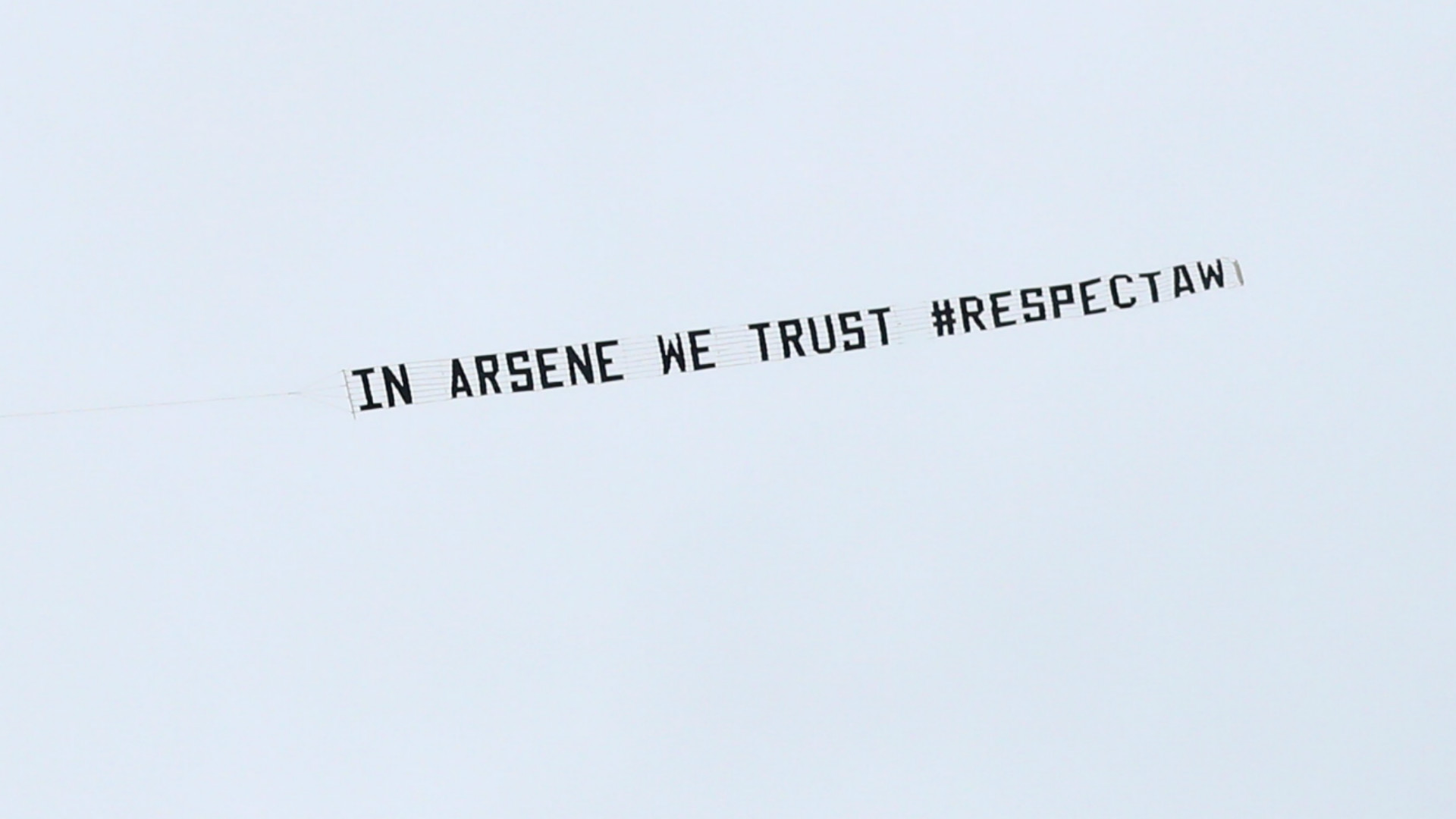 HD Arsene Wenger banner Arsenal