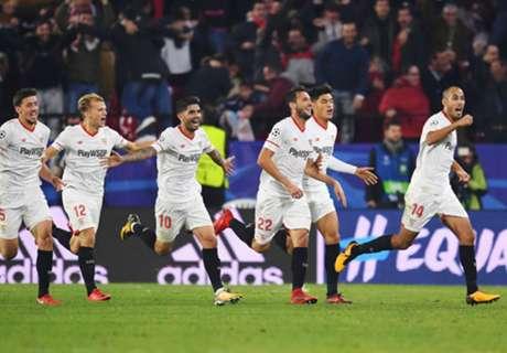 Sevilla met geweldige comeback naast Liverpool