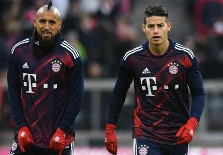 Vidal y James perdieron el invicto en la Bundesliga