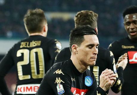 Napoli eliminó a Fiorentina