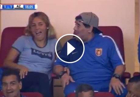 Maradona acudió al debut del Chucky Lozano en Holanda