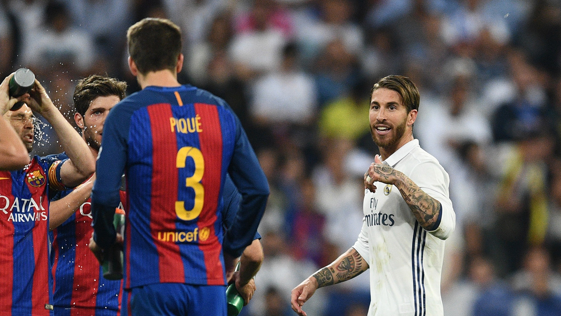 Sergio Ramos Gerard Pique Real Madrid Barcelona