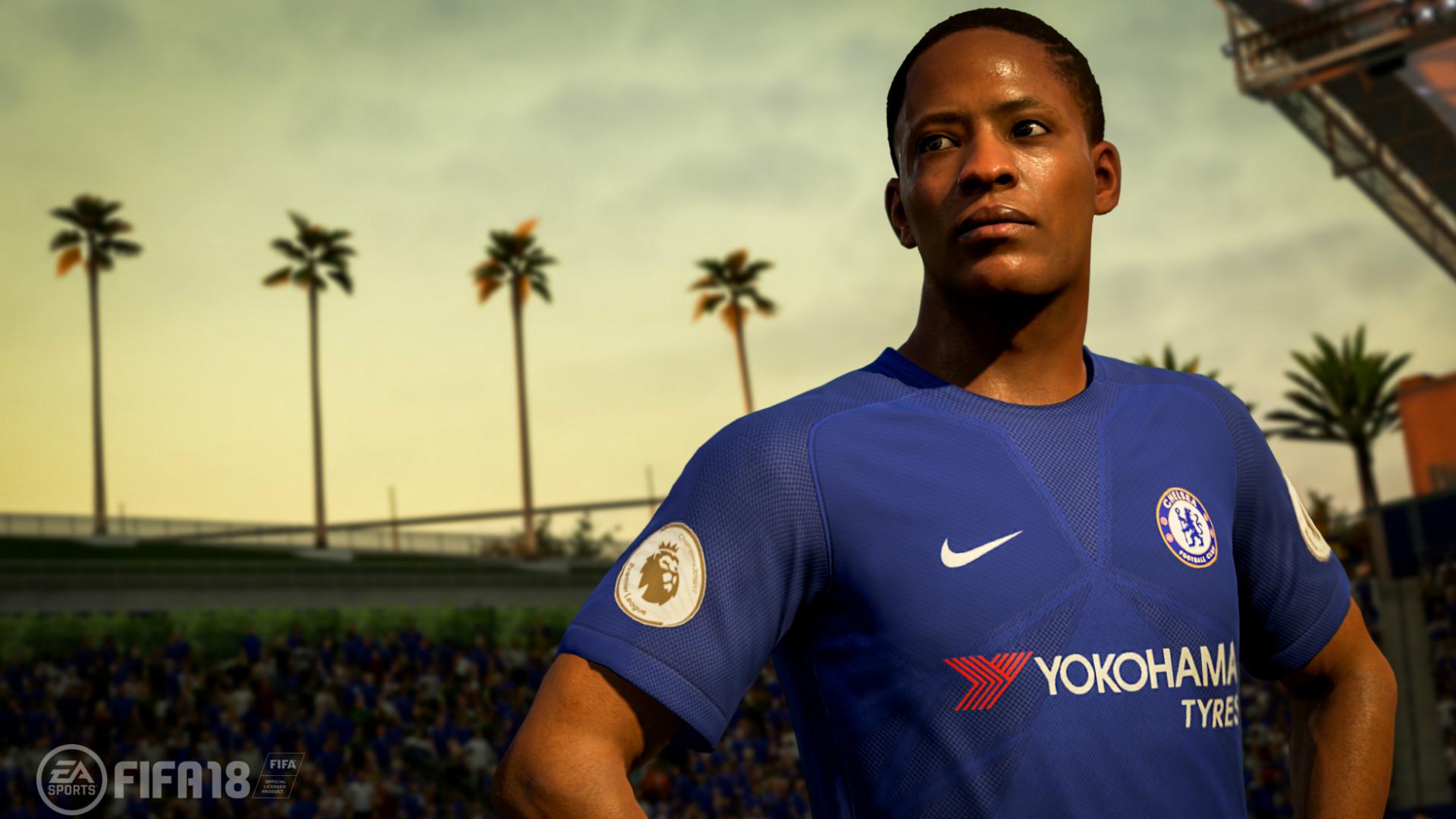 FIFA 18 Chelsea kit reveal (screenshot)