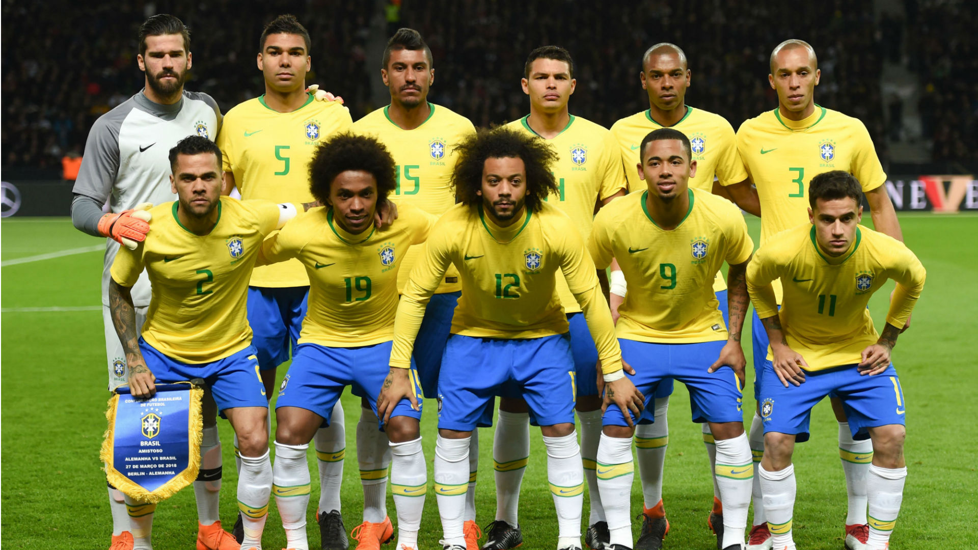 Champions Brazils World Cup Squad Packed Full Of League Winners
