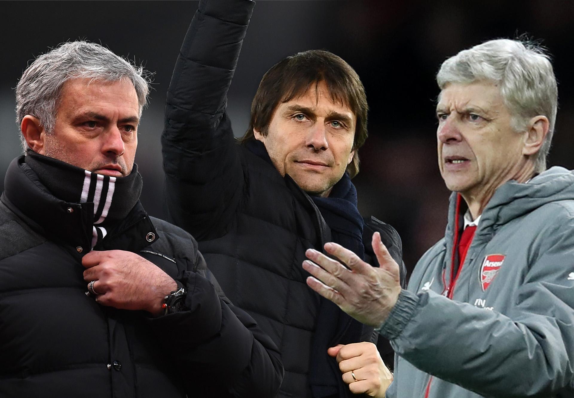Mourinho Conte Wenger composite