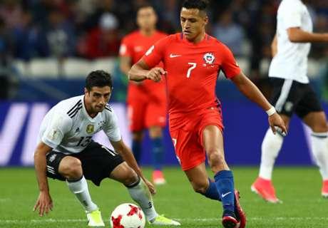 Le Chili et l'Allemagne dos à dos