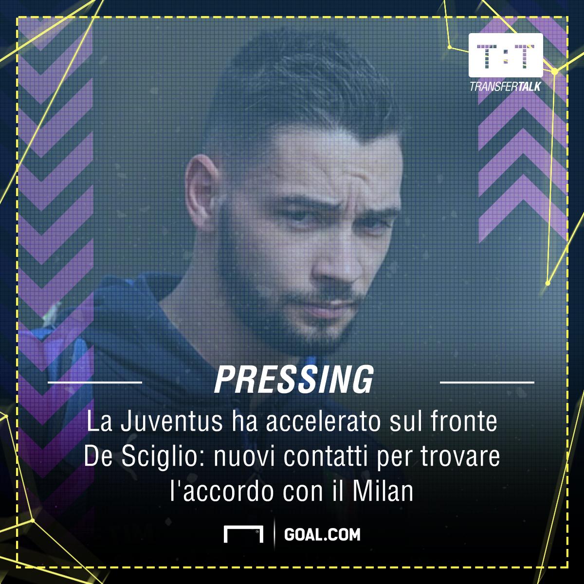 Milan, ipotesi scambio con la Juventus: De Sciglio per arrivare a Cuadrado?