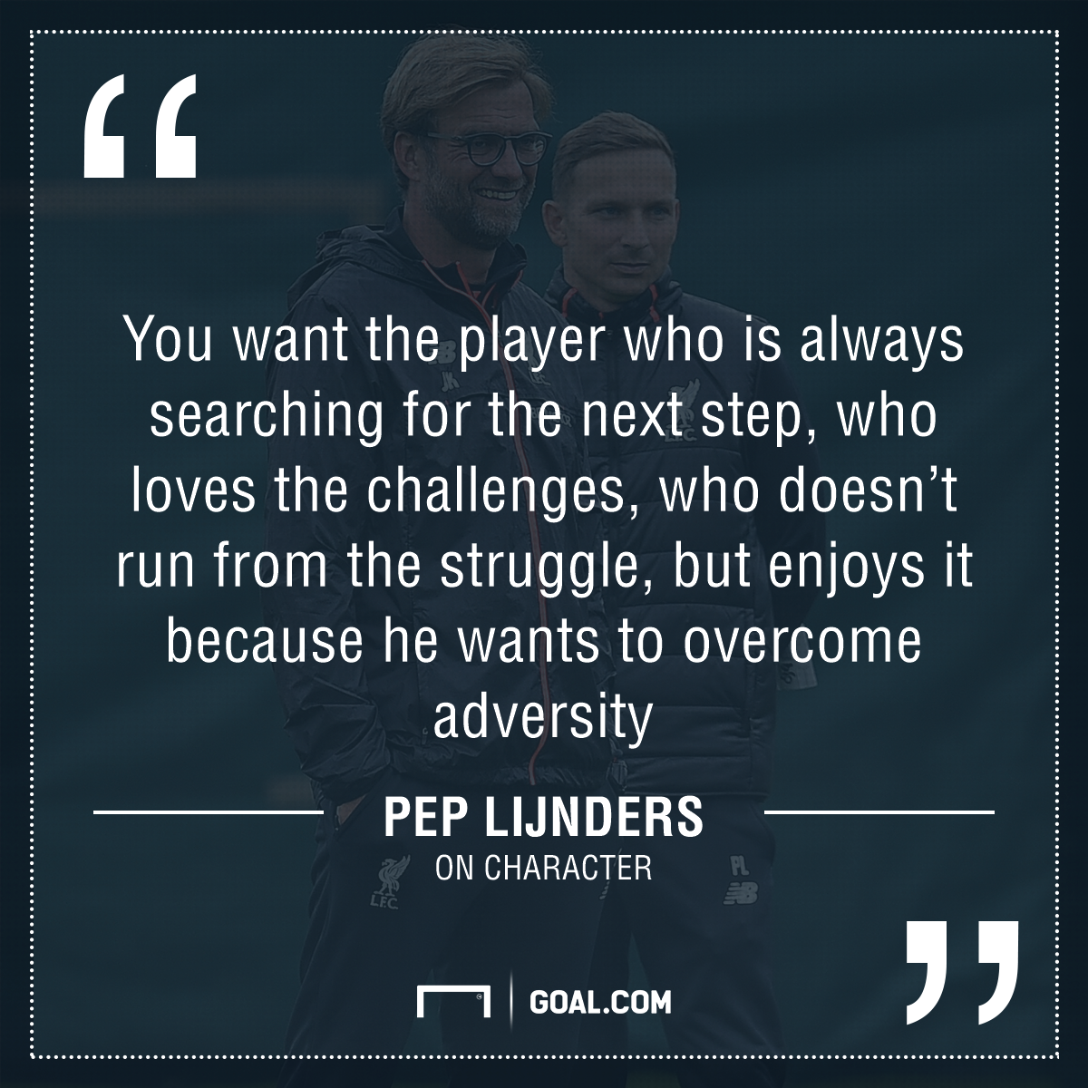 GFX Liverpool quote Lijnders on character