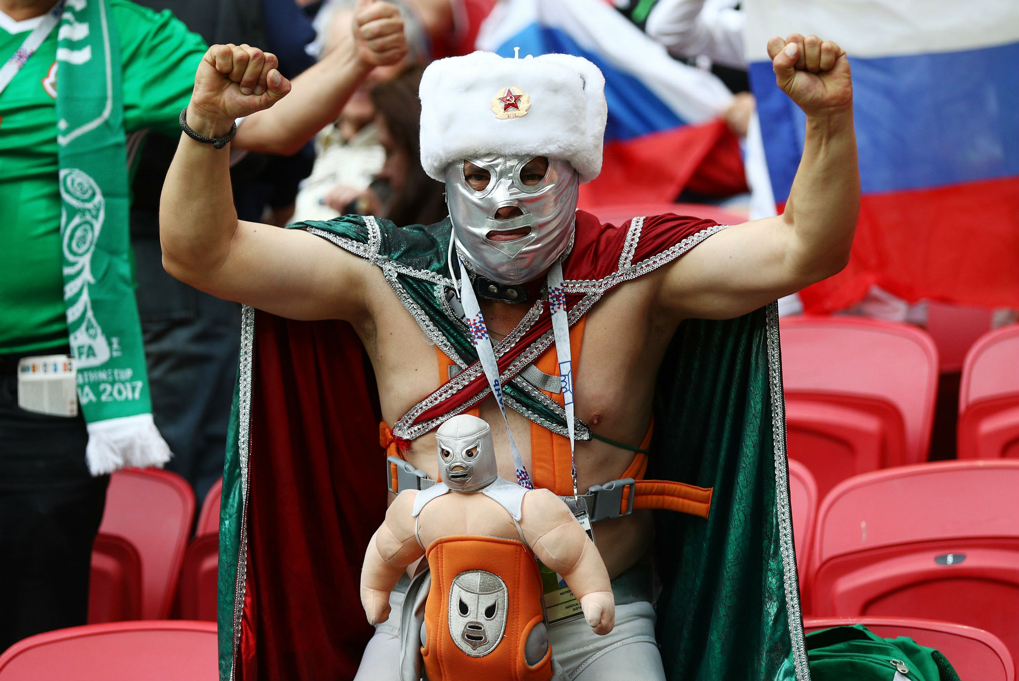 Mexico Russia fans