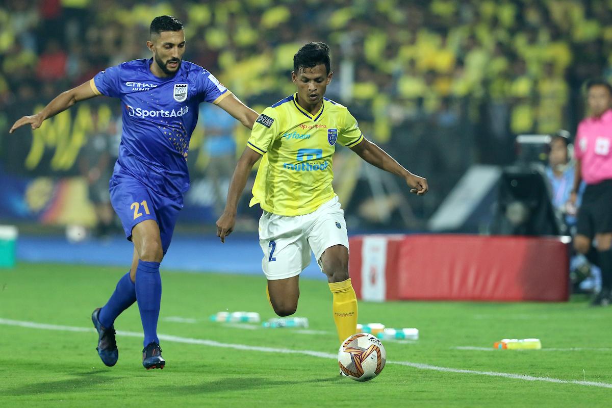 ISL 2019-20: Mumbai City, Kerala Blasters inseparable in eventful contest