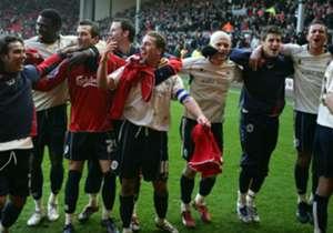 Liverpool 1-2 BARNSLEY | 16 Februari 2008 | Dirk Kuyt membawa The Reds unggul tetapi Stephen Foster menyamakan skor sebelum Brian Howard mencetak gol telat yang dramatis untuk mengejutkan skuat asuhan Rafa Benitez di Anfield.