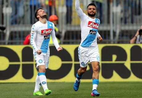 Napoli steviger op plek drie in Serie A