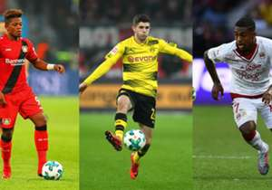 Mit 19 ist Pulisic der jüngste US-Fußballer des Jahres, den es je gab. Auch im Ranking der wertvollsten U20-Rechtsaußen der Welt überragt der BVB-Star. (Quelle: transfermarkt.de)