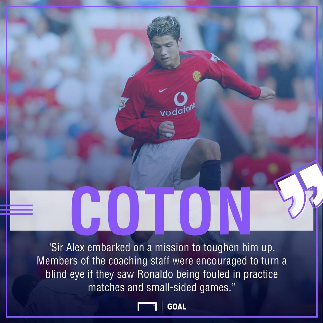 Cristiano Ronaldo Tony Coton Ferguson training