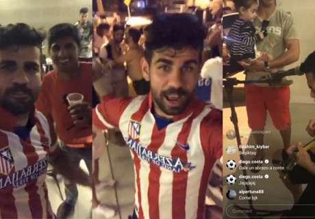 Diego Costa feest in Atlético-shirt