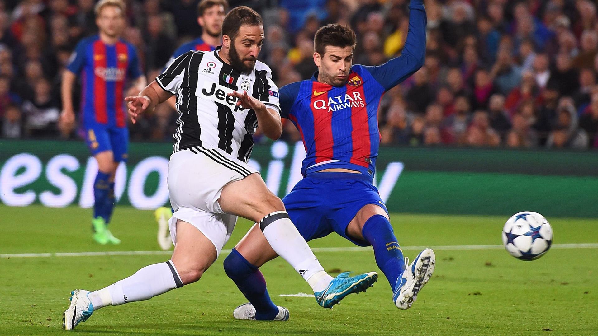 Gonzalo Higuain Barcelona Juventus Champions League