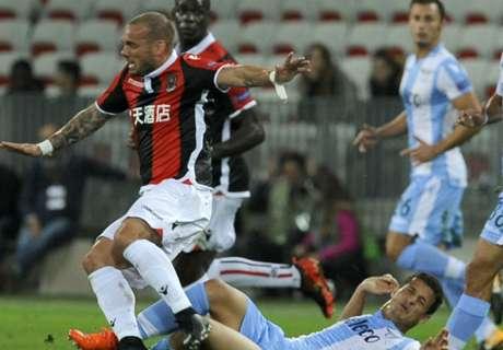 Lazio wint bij rentree Sneijder in Nice