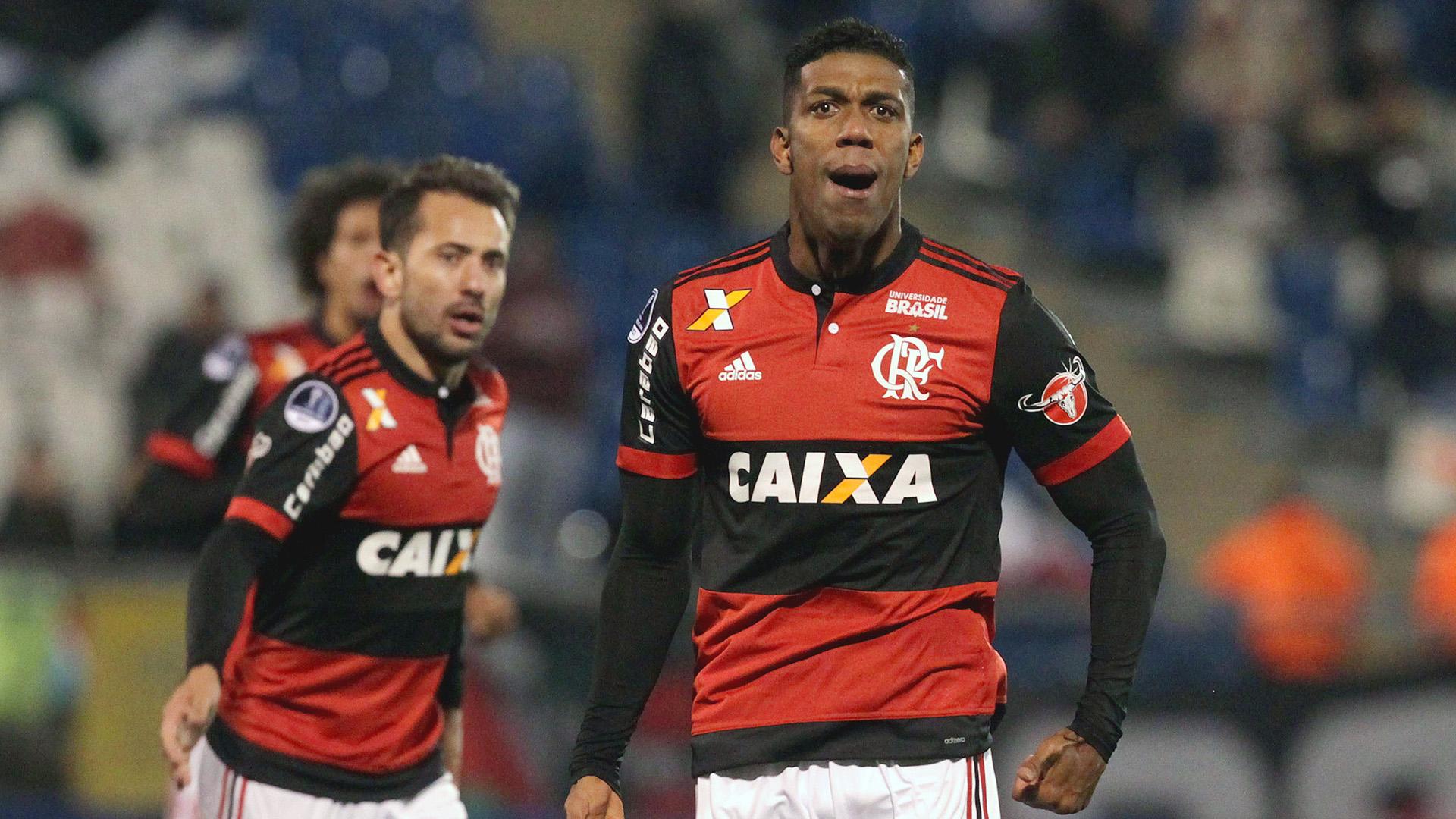 Orlando Berrio Everton Ribeiro Palestino Flamengo Copa Sudamericana