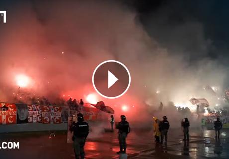 Irre Pyro-Show im Belgrad-Derby