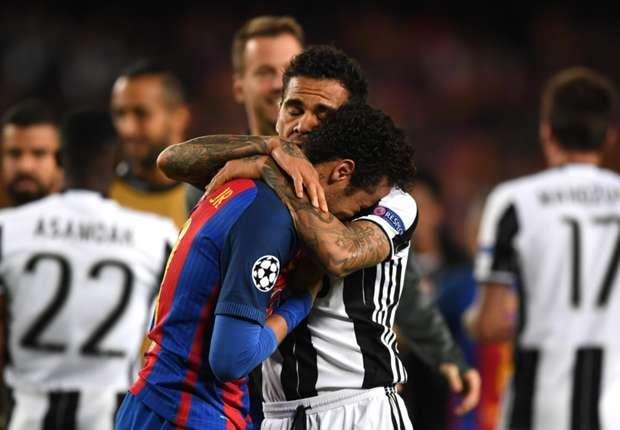 REVEALED: How Dani Alves consoled Neymar after Champions League exit