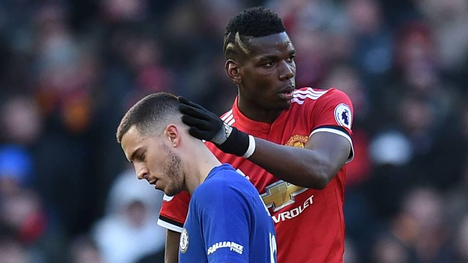 Eden Hazard Chelsea Paul Pogba Manchester United