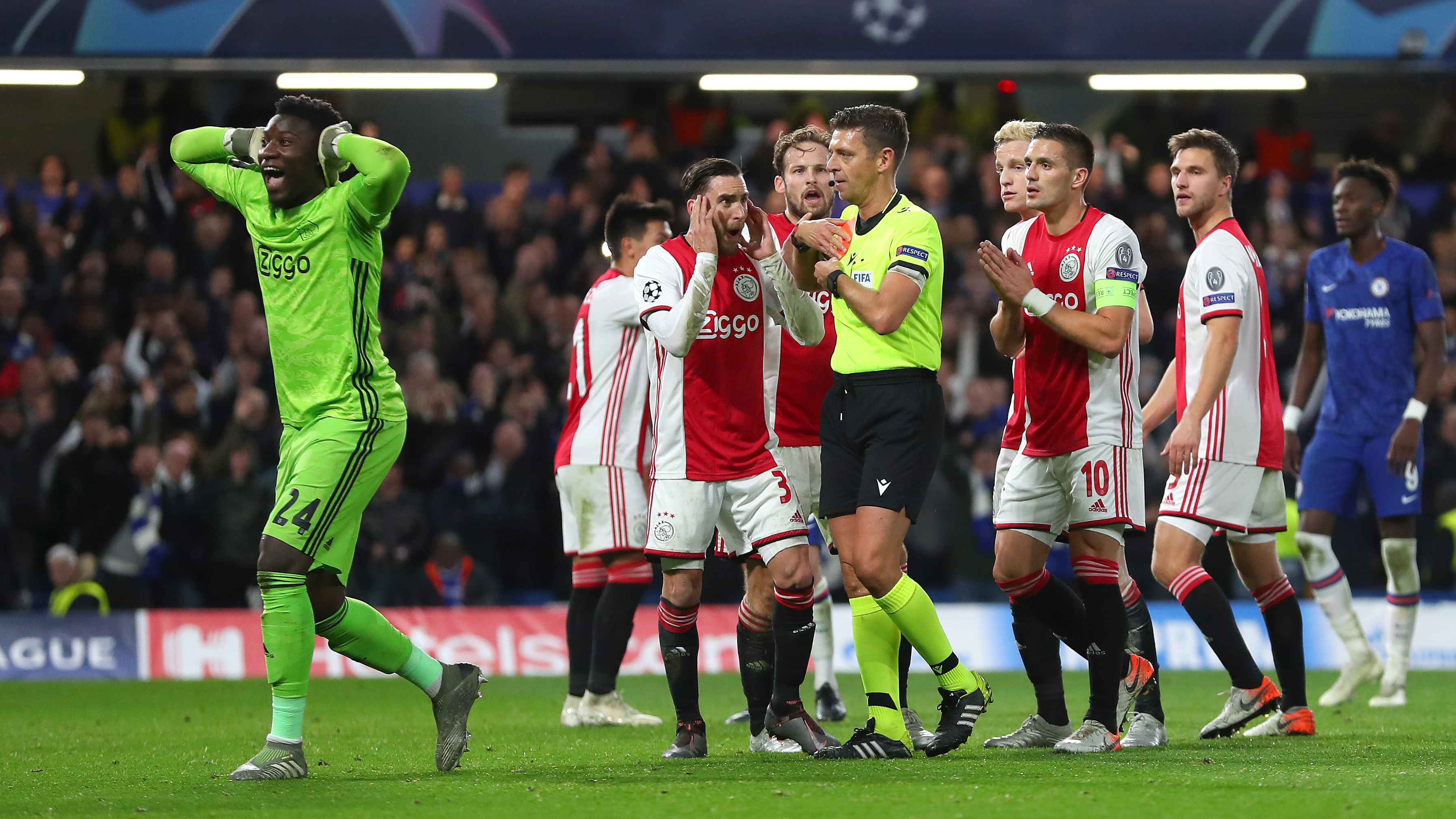 Tadic accuses referee of 'destroying' Ajax's clash with Chelsea