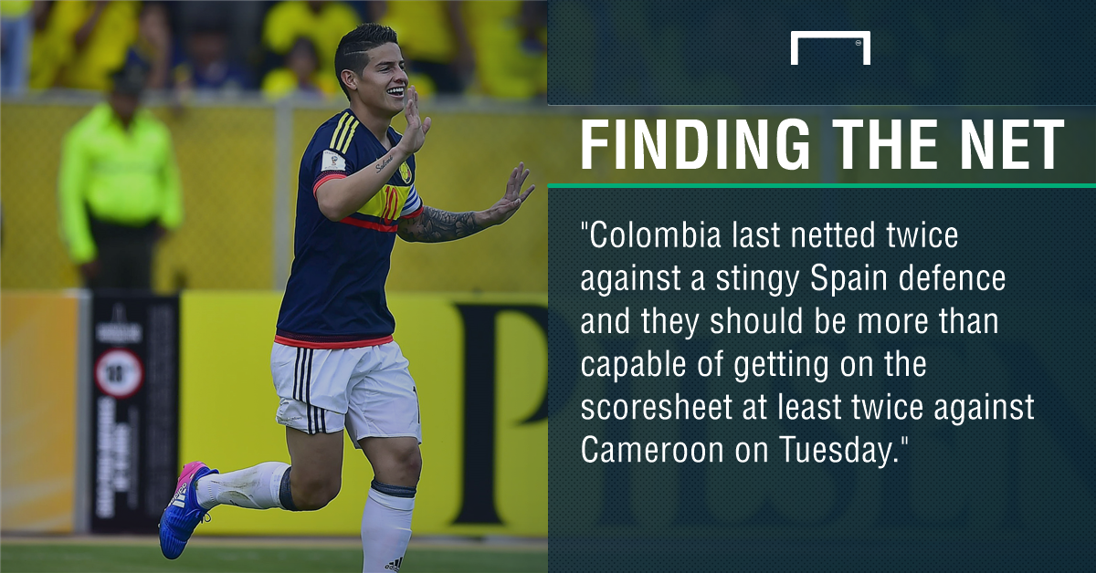 Yerry Mina nets 2 as Colombia beats Cameroon 4-0 in friendly