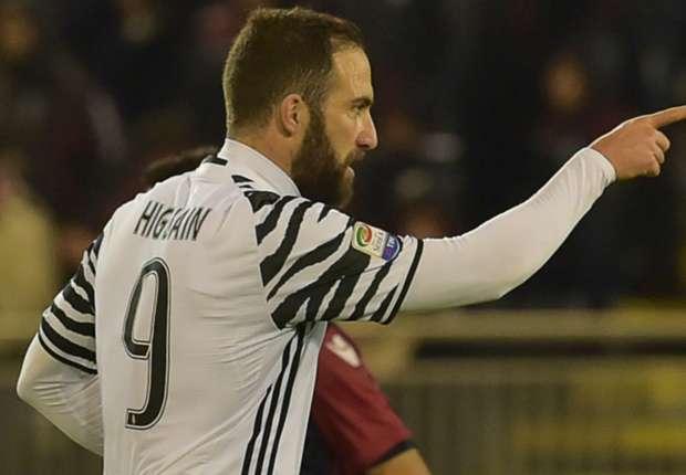 Cagliari 0-2 Juventus: Higuain double punishes 10-man hosts