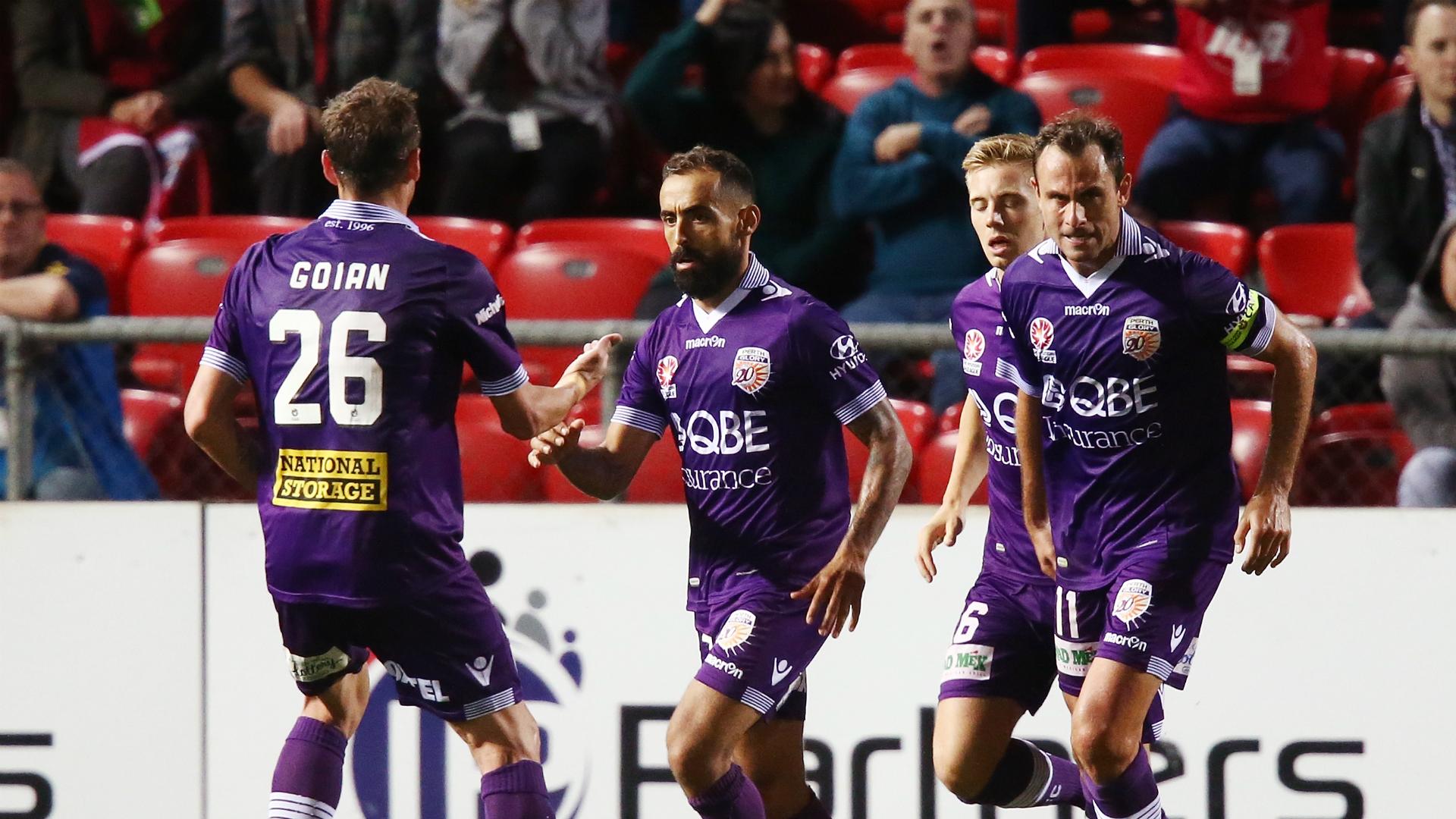Diego Castro Adelaide United v Perth Glory A-League 31032017