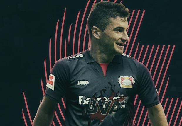 Lucas Alario Bayer Leverkusen GFX