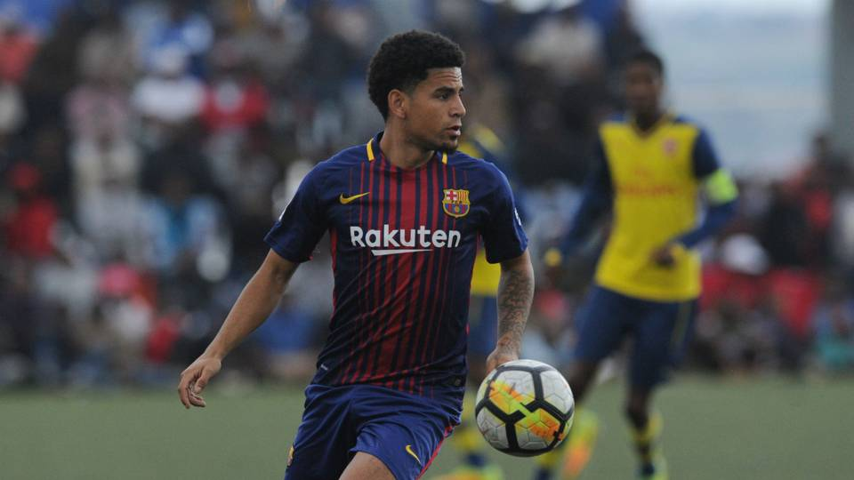 Keagan Dolly playing for La Masia