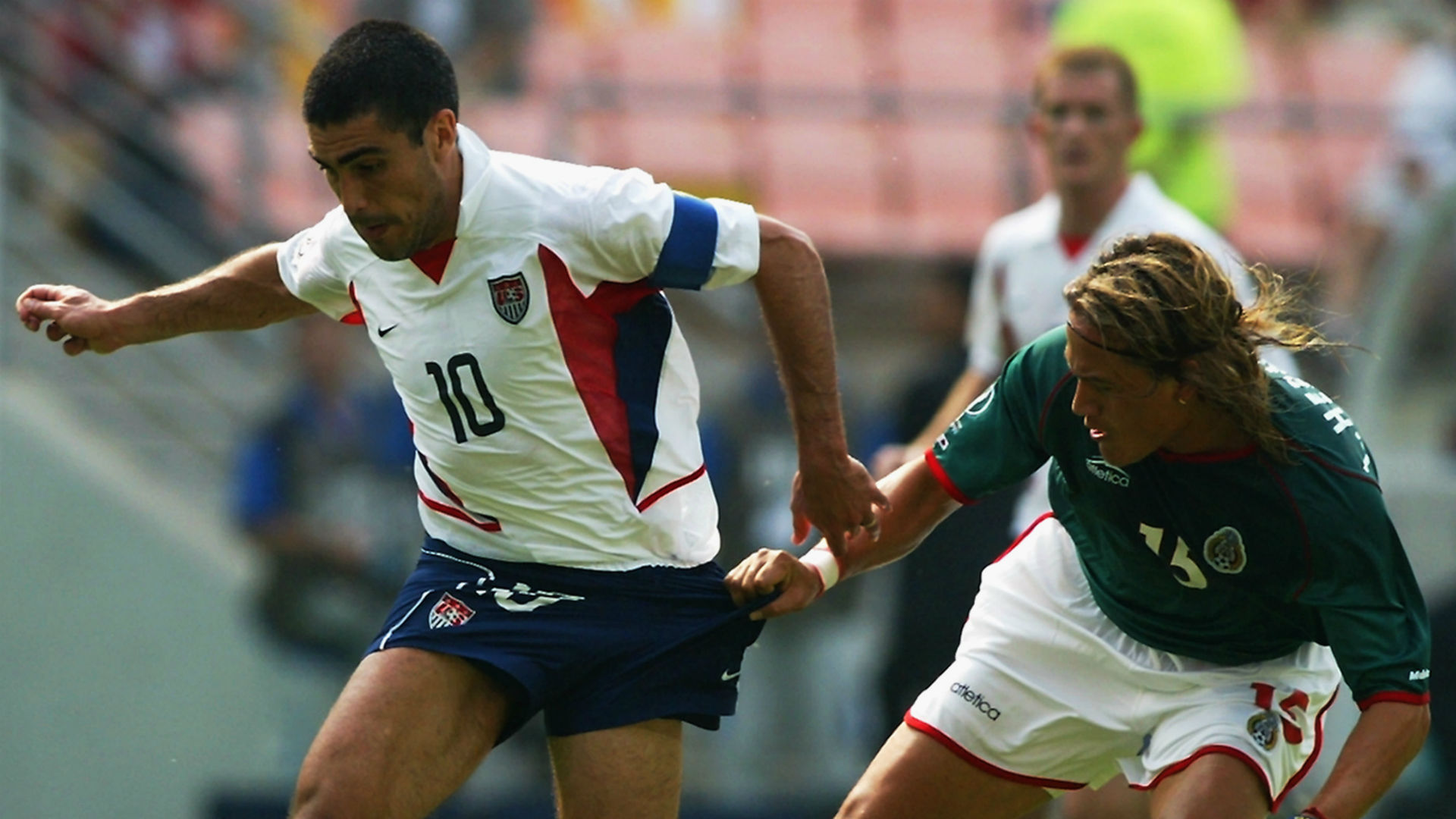 Claudio Reyna Luis Hernandez USA Mexico 2002 World Cup