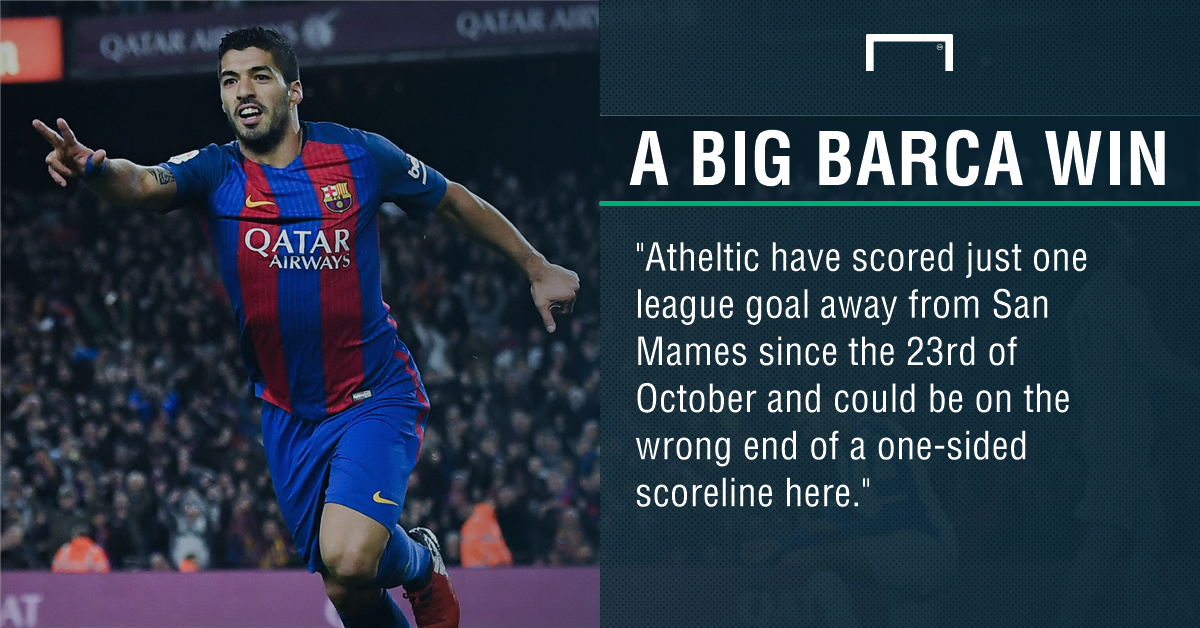 Barcelona sweep aside Athletic Bilbao to close in on Real Madrid