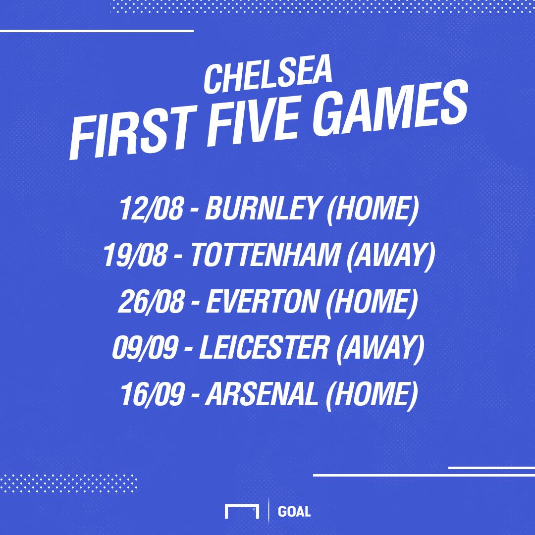 Chelsea first five fixtures