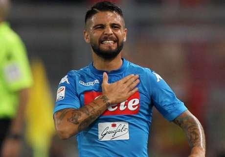 Napoli-Inter, Insigne non molla: