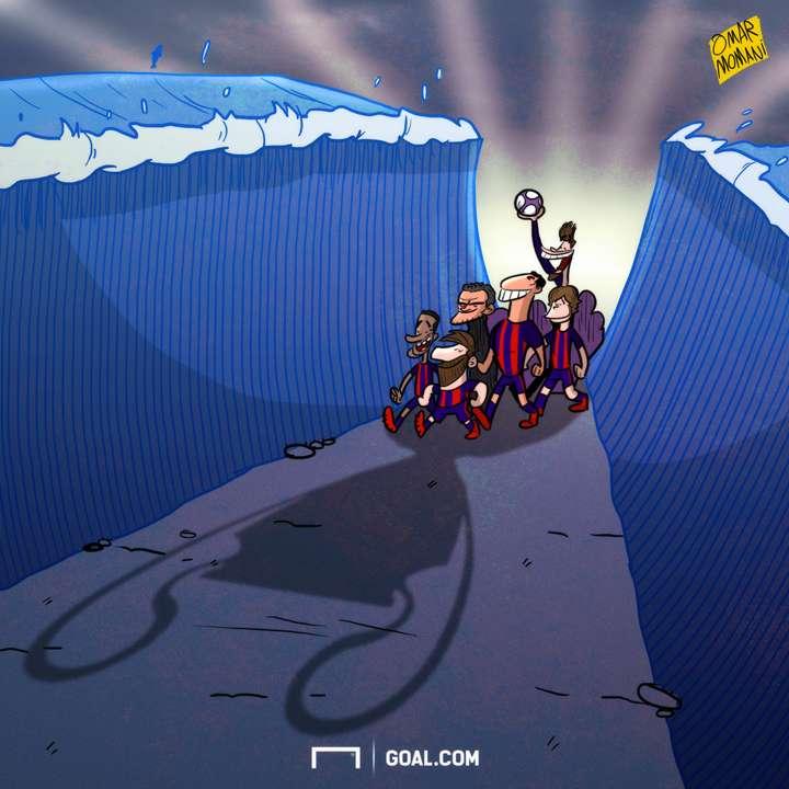 Cartoon - Barca do the miracle