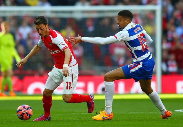 Michael Hector and Mesut Ozil