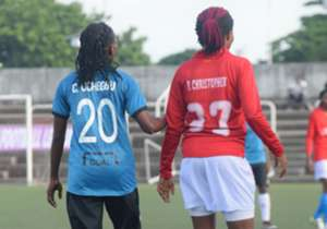 The Golden Queens' strikeforce could not find a way past the visitors at National Stadium, Lagos as the game ended all square . By: Shina Oludare