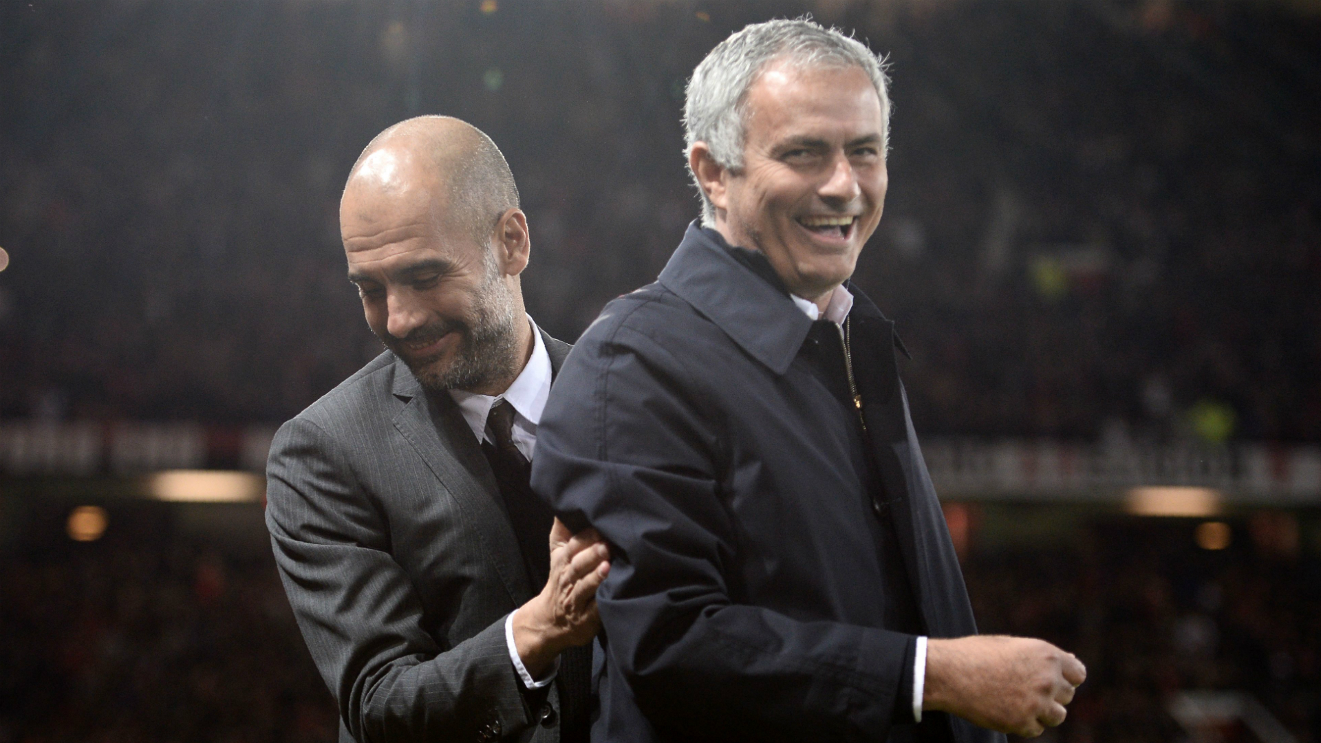 Pep Guardiola Jose Mourinho Manchester City Manchester United