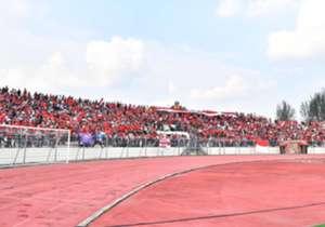 Suporter Indonesia unjuk kekuatan dengan menyuguhkan dukungan besar pada timnas yang berhasil menundukkan Timor Leste dengan skor 1-0, Minggu (20/8).