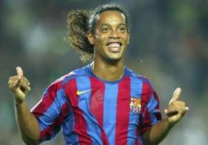 <strong>Gelandang: </strong>Ronaldinho, Barcelona