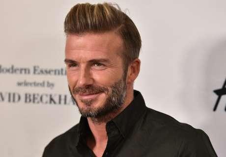 Beckham fällt mit Narben-Post auf