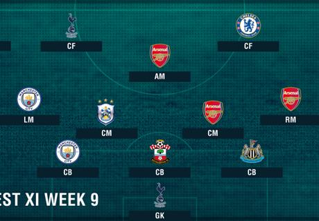 PL Team of the Week 2017-2018 สัปดาห์ที่ 9