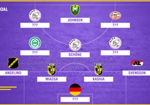 Speelronde 28 in de Eredivisie ligt achter ons. Welke elf spelers blonken er op basis van de data van Opta afgelopen weekend uit?