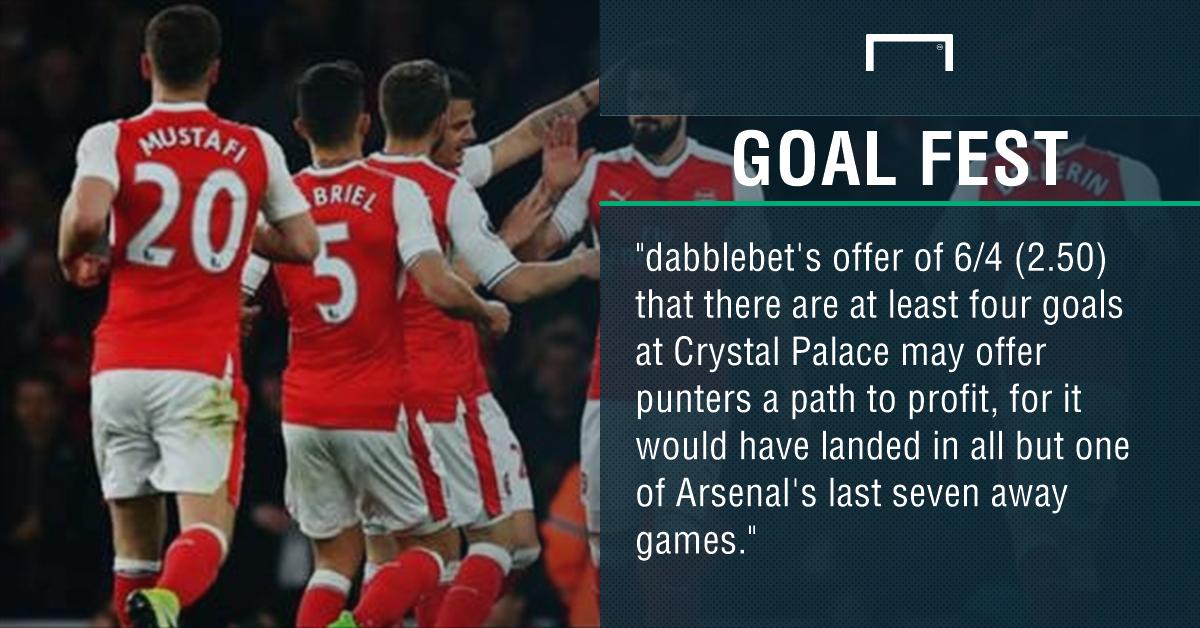 GFX Crystal Palace Arsenal betting