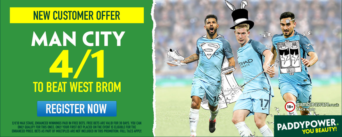 GFX Manchester City West Brom enhanced betting