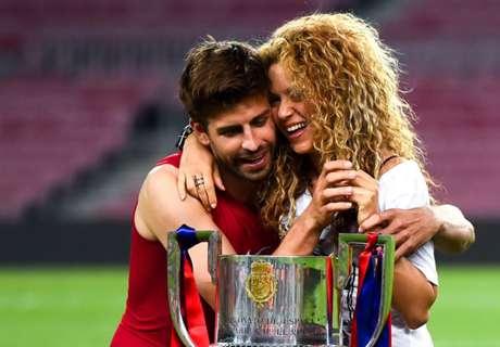Piqué presume del éxito de Shakira
